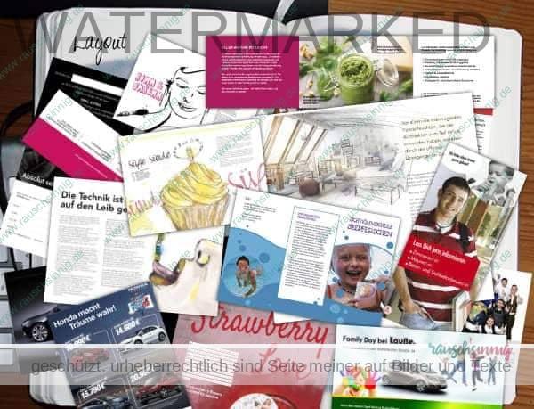 Printdesign-Arbeitsproben rauschsinnig