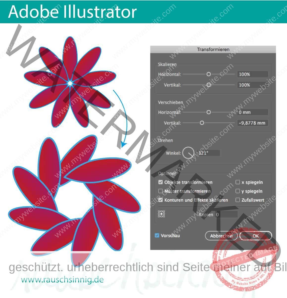 Adobe Illustrator-Tutorial-Transformieren