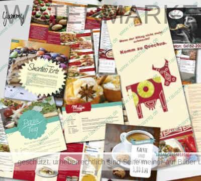 Food-Folder und Flyer