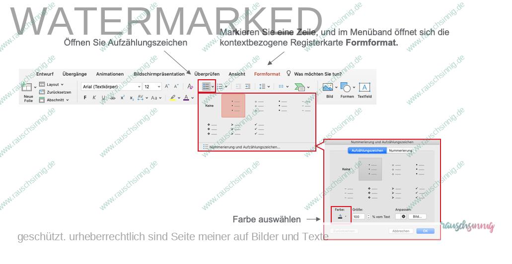PowerPoint Aufzählungszeichen ändern