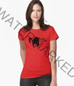 T-Shirt mit Katzenmotiv