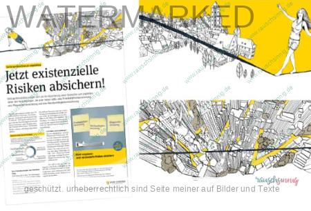 Digitale illustration für Präsentation von rauschsinnig