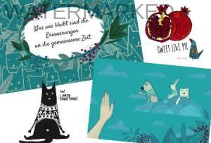 digital Illustration für Postkarten