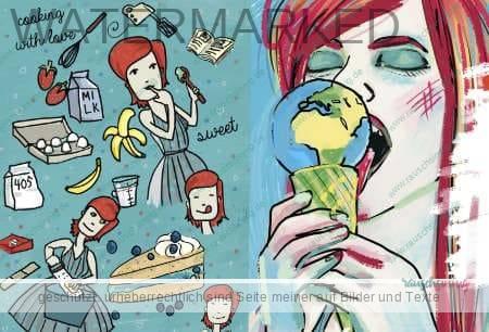 Digiatl Illustration Gesichter und Menschen