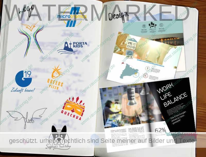Design für Logos und Landingpages.