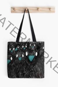 Stofftasche mit Raben Illustration