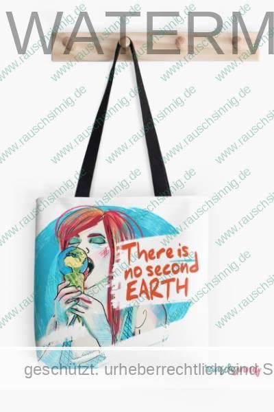 Stofftasche mit Umweltschutz Illustration von rauschsinnig