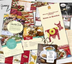 Design für Folder und Flyer im Food-Bereich