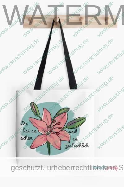 Stofftasche mit Lilien Illustration von rauschsinnig