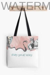 Stofftasche mit Astronaut Rosaversum Illustration