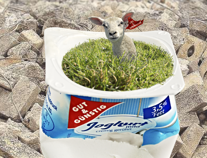 Bildmanipulation-yoghurt
