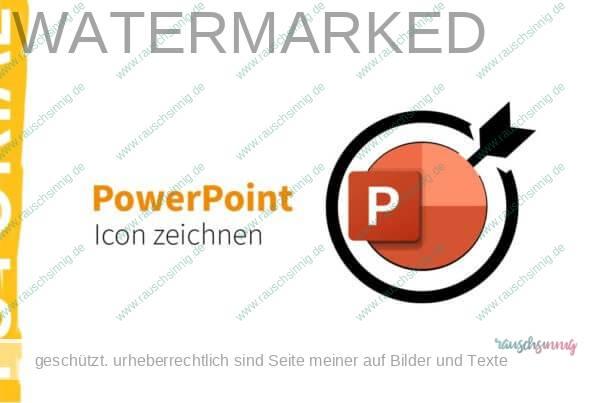 PowerPoint Icon zeichnen