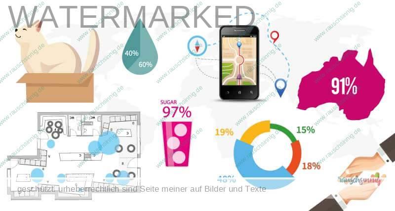 Infografiken für Unternehmenspräsentation, Unternehmenspräsentation