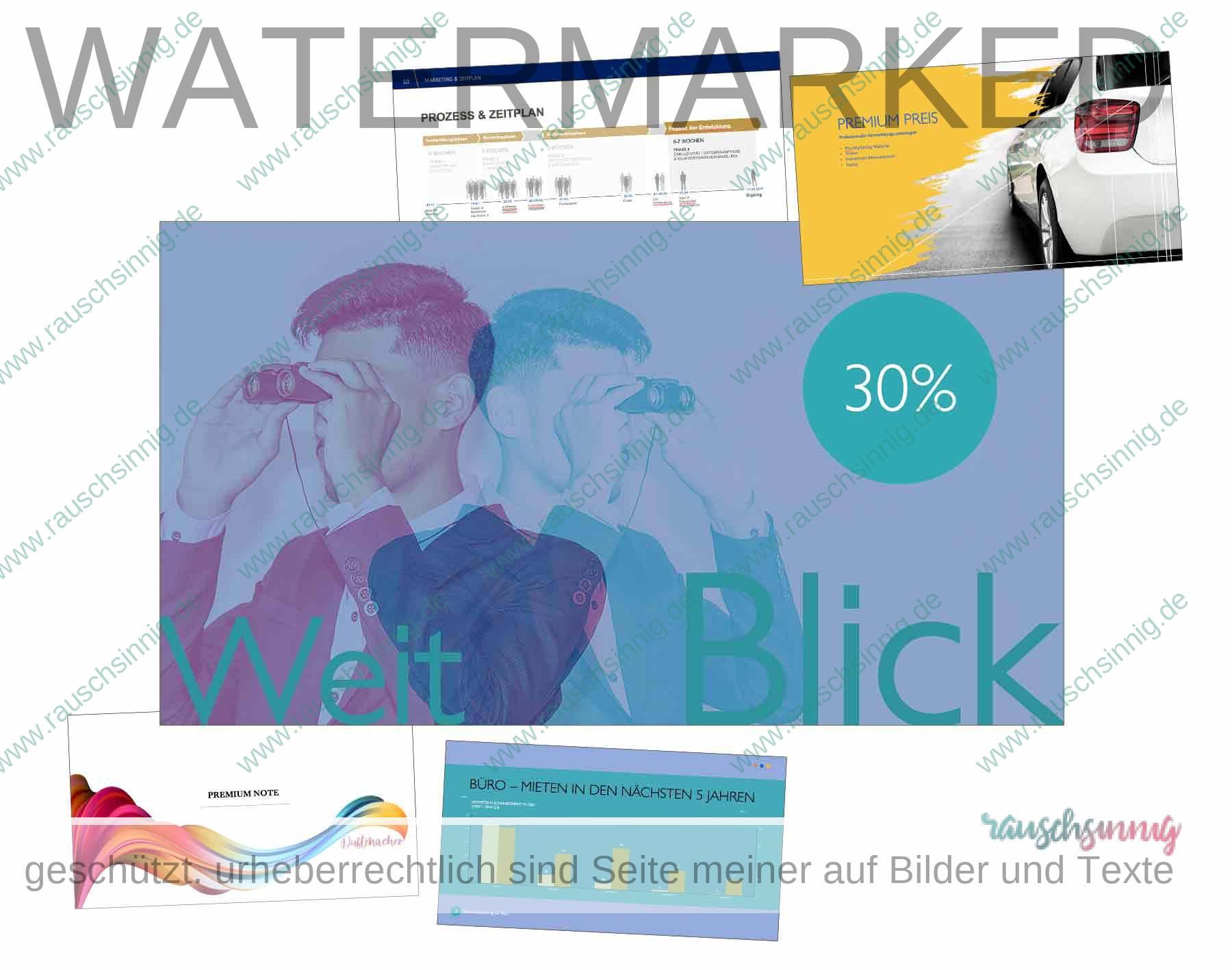 Aufregende gestaltete Unternehmenspräsentation in PowerPoint