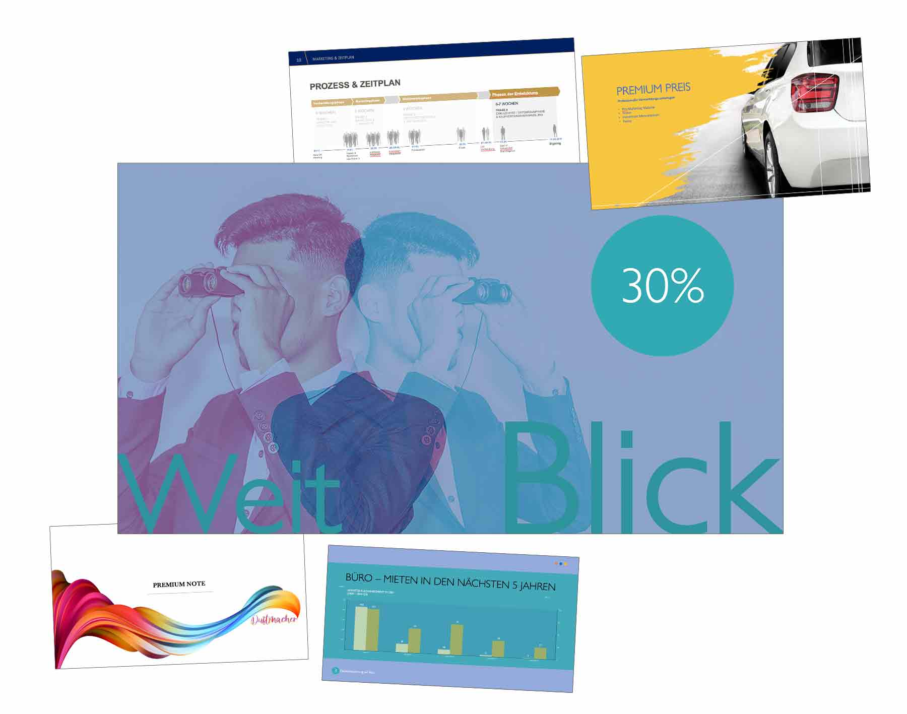Präsentationsdesign für unternehmenspräsentation