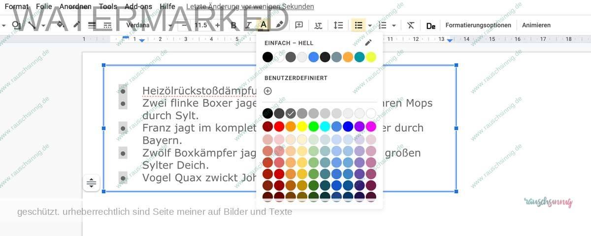 Google-Präsentation-aufzählungszeichen-ändern